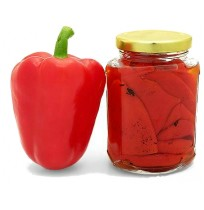 Canned sweet pepper
